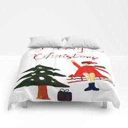 Merry Christmas Scene Comforters
