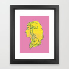 Pink and Yellow Edwardian Framed Art Print