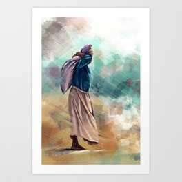 Ocean work Art Print