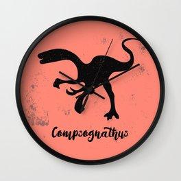 Compsognathus Wall Clock