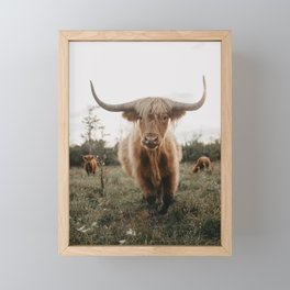 The Curious Cow Framed Mini Art Print
