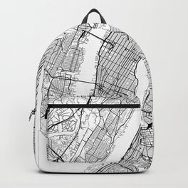 New York City Neutral Map Art Print Backpack