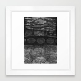 Bridge on the river Seine Framed Art Print