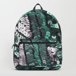 Green Silver Black SEquin Backpack