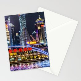 Pudong District Night Scene, Shanghai, China Stationery Cards