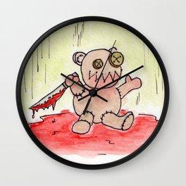 Evil Teddy Bear Wall Clock