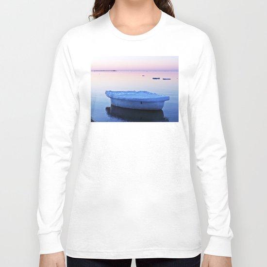 Ice Raft at Dusk on Calm Seas Long Sleeve T-shirt