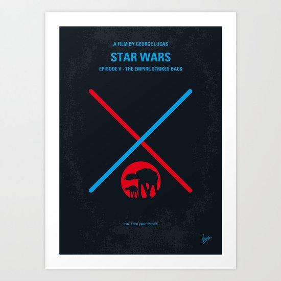 No155 My STAR Episode V The Empire Strikes Back WARS minimal movie poster Art Print