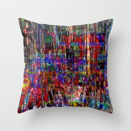 Down And Out And Junk In The Candy Kingdom [A Simple Constraint Series] Throw Pillow