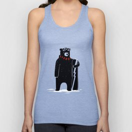 Bear on snowboard Unisex Tank Top