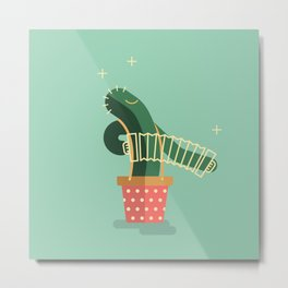 CACTUS BAND / The Accordion Metal Print
