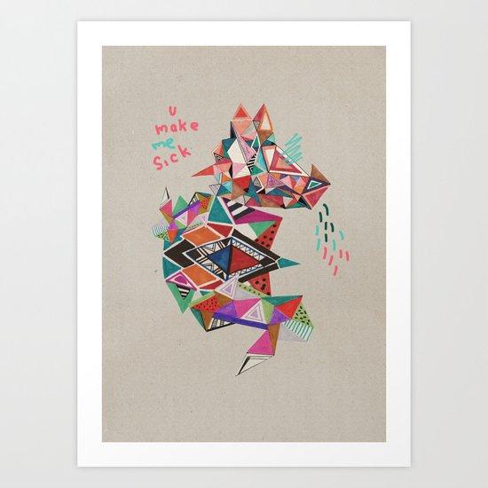 S I C K  Art Print