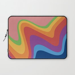 Curves rainbow pattern Laptop Sleeve