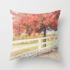 Autumn at the Orchard Throw Pillow