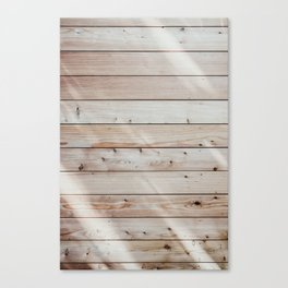Sunlight hitting in wood wall Canvas Print