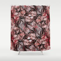 blood Shower Curtains featuring Blood by Iris López