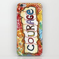 courage iPhone & iPod Skins featuring Courage by Ines92
