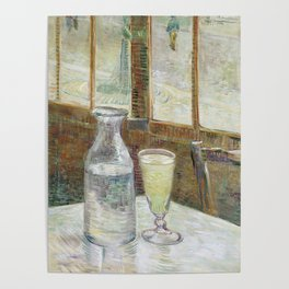 Van Gogh - Café table with absinth, 1887 Poster