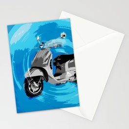 Vespa Blues Stationery Cards