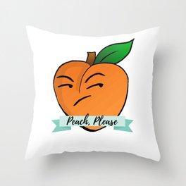 Peach, Please Throw Pillow