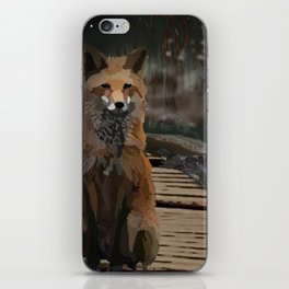 Misty Night Fox iPhone Skin