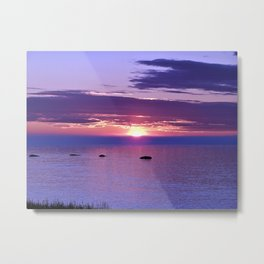 Colorful Cloudy Sunset  Metal Print