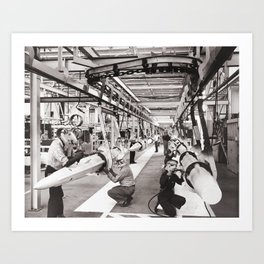 Star Wars factory Art Print