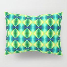 Green Yellow Geometric Metallic Diamond Pattern Pillow Sham