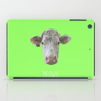 cow iPad Cases featuring COW by Laura Maria Designs