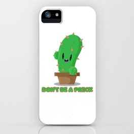 Pricky cactus iPhone Case
