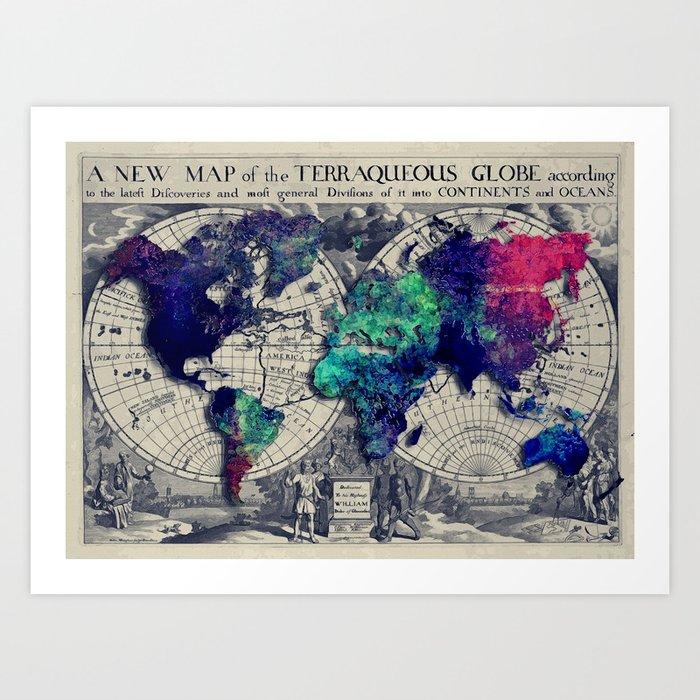 Map of the world Art Print