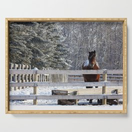 Winter Horse Serving Tray
