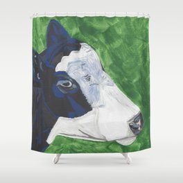 A Cow Named Socks Shower Curtain