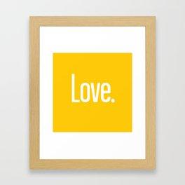 Love Period (Crocus Yellow) Framed Art Print