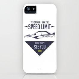 STI speed limit iPhone Case