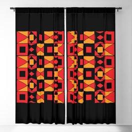 African Motif Mosaic Game Blackout Curtain