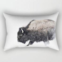 Prancing Buffalo Rectangular Pillow