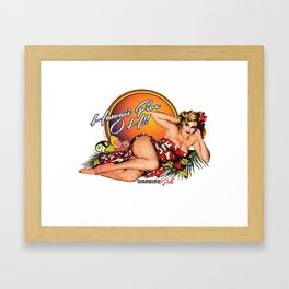 Hawaii Five OH!- Warbird Girls Framed Art Print