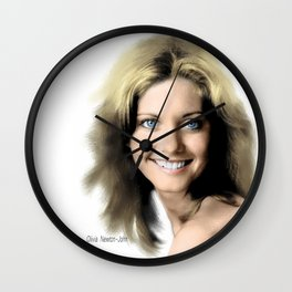 Movie star art - Olivia Newton John Wall Clock