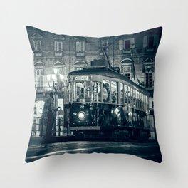 Vintage night in Turin Throw Pillow