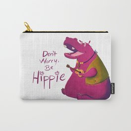 Hippie Hippo Carry-All Pouch