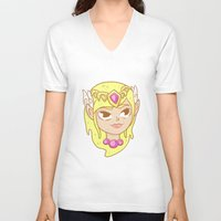 zelda V-neck T-shirts featuring  Zelda  by HypersVE