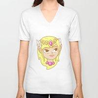 legend of zelda V-neck T-shirts featuring  Zelda  by HypersVE