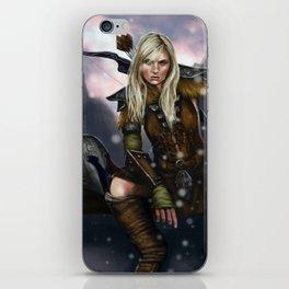 Fantasy Nordic Ranger Woman iPhone Skin