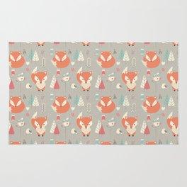 Baby fox pattern 01 Rug