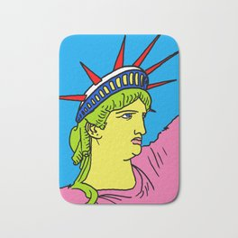 statue of liberty poster, statue of liberty pop art, america art, Bath Mat
