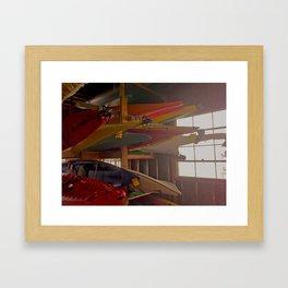 Kayak Rack Framed Art Print