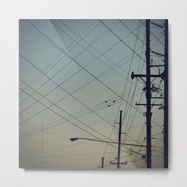 Lines. Metal Print