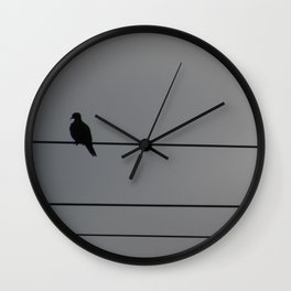 Forbearance of a Lonely Dove Wall Clock
