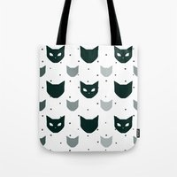 because cats Tote Bags featuring Cats Cats Cats by Be Kindly